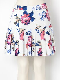 【SALE/40%OFF】rienda suelta golf wear Vintage FlowerVintage Flowerプリーツスカート リエンダスエルタゴルフウェア スカート プリーツスカート/ギャザースカート ホワイト ブラック【送料無料】