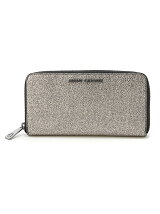 (W)ROUND ZIP METALLIC PU WALLET