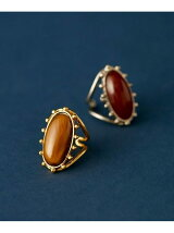 VINTAGE BEADS oval stone ring