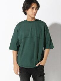 【SALE/20%OFF】SPENDY'S Store 綿ポンチ5分袖BIGTシャツ スペンディーズストア カットソー Tシャツ グリーン ブラック ベージュ ホワイト