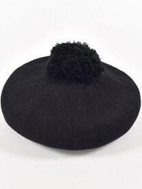 BeBe 梵天 ボンボン 付き ベレー 帽 (48cm~56cm ) ベベ オンライン ストア 帽子/ヘア小物 帽子その他 ブラック グレー【送料無料】