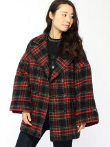PLAID BIG PEACOAT