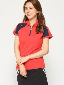 【SALE/30%OFF】Descente golf (W)ショートスリーブシャツ デサントゴルフ シャツ/ブラウス 半袖シャツ オレンジ ネイビー ホワイト【送料無料】
