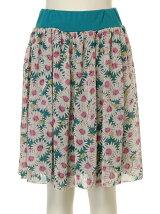 [アウトレット]デイジー花柄 シフォンスカート
