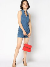 GUESS/(W)WINDSURF DENIM ROMPER