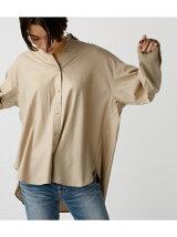 ドロップショルダー前開きベーシックシャツ