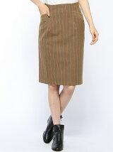 起毛ストレッチストライプスカート