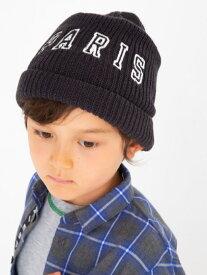 BeBe ロゴ 刺繍 ニット キャップ (48cm~56cm) ベベ オンライン ストア 帽子/ヘア小物 帽子その他 ブラック レッド【送料無料】