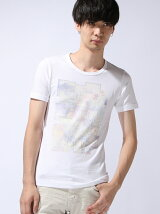 薄フォトプリントTシャツ