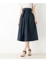 サッシュリボン付きタイプライタースカート