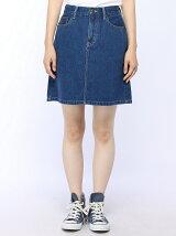 【BROWNY STANDARD】(L)デニムレトロAラインミニスカート