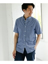 GYMPHLEX CHAMBRAY SHORT-SLEEVE SHIRTS