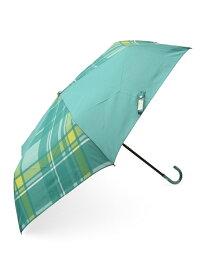 studio CLIP ビッグチェックオリカサ スタディオクリップ ファッショングッズ 日傘/折りたたみ傘 グリーン ベージュ