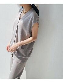 IENA 三ツ杢ロングベスト◆ イエナ ニット ニットその他 ブラウン ネイビー【送料無料】