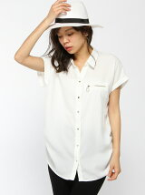(L)ZIPフレンチスリーブシャツ