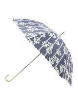 ストライプフラワー長傘(晴雨兼用)