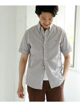 GYMPHLEX × DOORS 別注STRIPE SHORT-SLEEVE SHIRTS