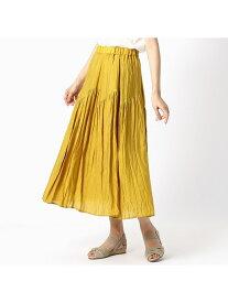 【SALE/50%OFF】COMME CA ISM デザイン切り替えギャザースカート コムサイズム スカート ロングスカート ベージュ ネイビー ブラウン イエロー カーキ