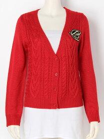 【SALE/40%OFF】rienda suelta golf wear Girly Collegeエンブレムケーブルカーディガン リエンダスエルタゴルフウェア ニット カーディガン レッド ホワイト ネイビー【送料無料】