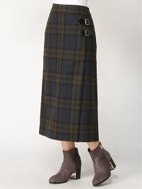 studio CLIP WコンラップキルトフウSK スタディオクリップ スカート スカートその他 ブラウン ネイビー【送料無料】