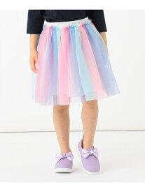 【SALE/30%OFF】any FAM KIDS 【80-130cm】レインボーチュールスカート エニィファム スカート スカートその他 パープル