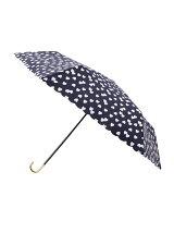 ハート柄折り畳み傘(晴雨兼用)