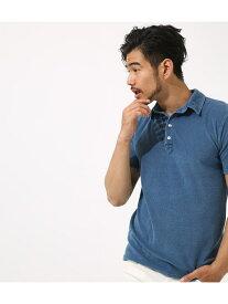 【SALE/50%OFF】AZUL by moussy インディゴパイルポロシャツ アズールバイマウジー カットソー【RBA_S】【RBA_E】