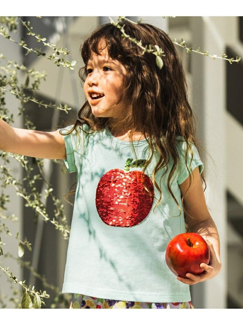 any FAM KIDS 【KIDS】ミラクルスパンコール フルーツ Tシャツ エニィファム カットソー