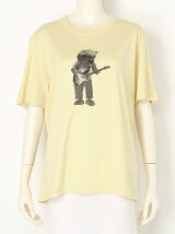 dry cotton bear guitar Tshirt