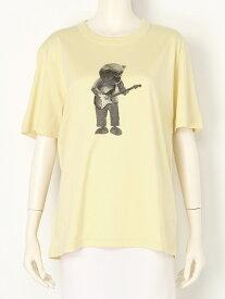 【SALE/20%OFF】beautiful people dry cotton bear guitar Tshirt ビューティフル ピープル カットソー Tシャツ イエロー グレー【送料無料】