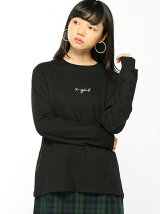 EMBROIDERES CURSIVE LOGO L/S REGULAT TEE
