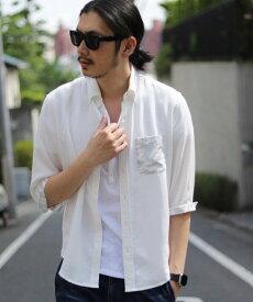 【SALE/50%OFF】MEN'S BIGI テンセルリネン7スリーブツイルシャツ メンズ ビギ シャツ/ブラウス【RBA_S】【RBA_E】
