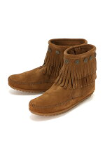 MINNETONKA/(L)DOUBLE FRINGE SIDE ZIP BOOT 693