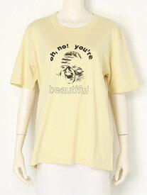 【SALE/20%OFF】beautiful people dry cotton beautiful face Tshirt ビューティフル ピープル カットソー Tシャツ イエロー グレー【送料無料】