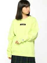 X-GIRL x RUSSELL BOX LOGO CREW SWEAT TOP