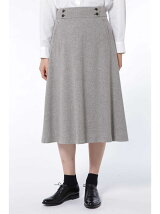 ヘリンボンツィードフレアースカート
