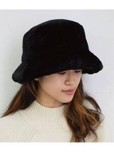 【SALE/30%OFF】ViS ボリュームフェイクファーバケットハット ビス 帽子/ヘア小物 ハット ブラック グレー