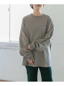 DOORS 【XLサイズ別注】EMBROIDERY LOGO LONG-SLEEVE T-SHIRTS アーバンリサーチドアーズ カットソー Tシャツ ベージュ ホワイト ブラック【送料無料】