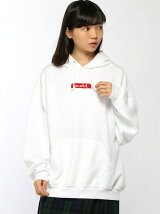 X-GIRL x RUSSELL BOX LOGO SWEAT HOODIE