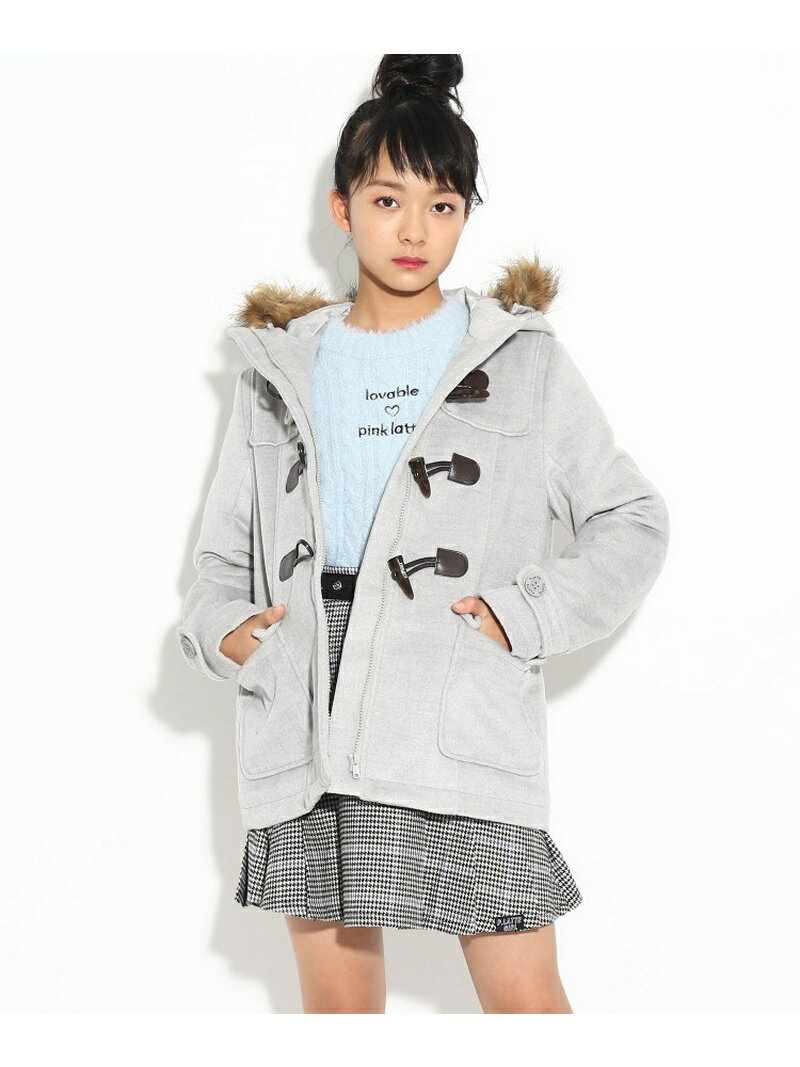 PINK-latte 【吸湿発熱】ショートダッフル コート ピンク ラテ コート/ジャケット【送料無料】
