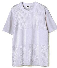【SALE/50%OFF】MEN'S BIGI ニットドッキング異素材Tシャツ メンズ ビギ ニット 長袖ニット ホワイト ブラック【送料無料】