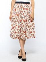 BOHOフラワーフレアスカート