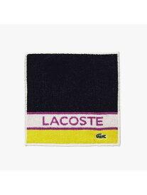 LACOSTE トリプルカラーハンカチタオル ラコステ ファッショングッズ ハンカチ/タオル ネイビー レッド ホワイト
