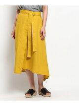 イレギュラーヘムカラースカート