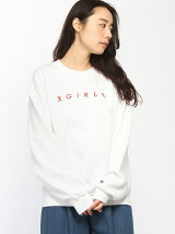X-GIRLxRUSSELL INTERVAL LOGO CREW SWEAT