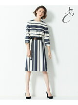 CANGIOLI MULTI STRIPE ワンピース