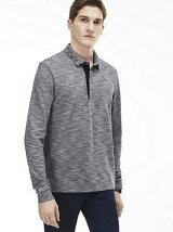 (M)ラガーシャツ風ポロシャツ(長袖)
