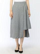 アシメントリープリーツスカート