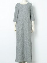 crepe knit long T-dress