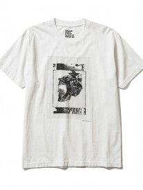 B'2nd MINEDENIM(マインデニム)Kosuke Kawamura × Stie-lo Photo Collage T-Shirts(skull) ビーセカンド カットソー Tシャツ ホワイト ブラック【送料無料】